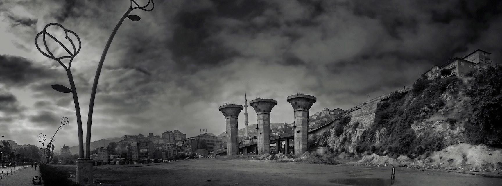 zonguldak  lavuar coal washing plant after demolition