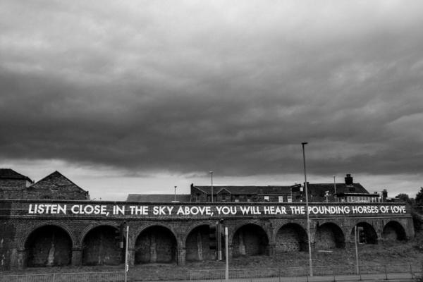 stoke on trent  robert montgomery 2019 stokeworks poem at longton railway station